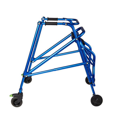 Circle Specialty: Walking Klip 4-Wheeled - W/Seat - KP540B - Blue Color