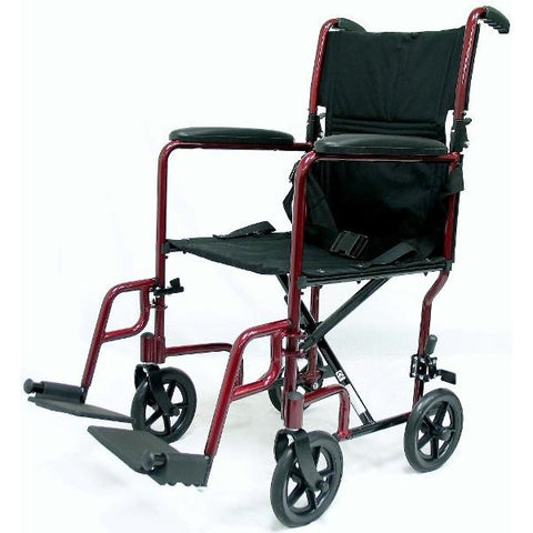 Karman Healthcare: LT-2017 & LT-2019 Lightweight Transporter Aluminum Wheelchair – LT-2000 side view