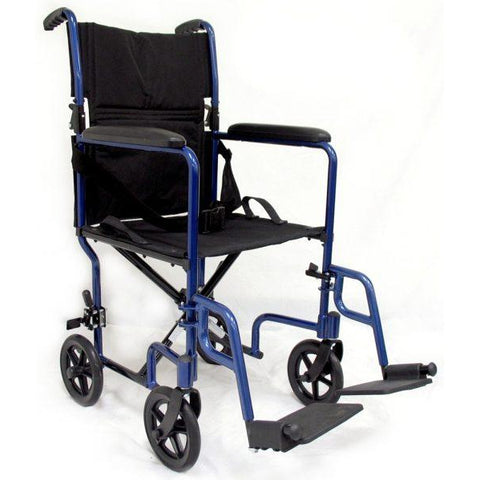 Karman Healthcare: LT-2017 & LT-2019 Lightweight Transporter Aluminum Wheelchair – LT-2000 Front View