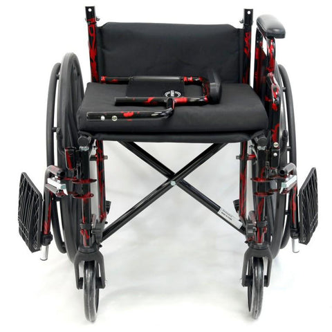Karman Healthcare : Red Streak Lightweight Wheelchair  – LT-770Q detach arm