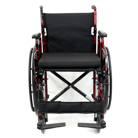 Karman Healthcare : Red Streak Lightweight Wheelchair  – LT-770Q front view