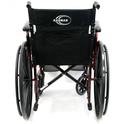 Karman Healthcare : Red Streak Lightweight Wheelchair  – LT-770Q back view