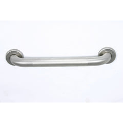 Grabcessories: 16 inch Ada Compliant Grab Bar Standard Peened Grip 1 1/4 inch Diameter Twist Covers & Mounting Hardware Included - Actual Image
