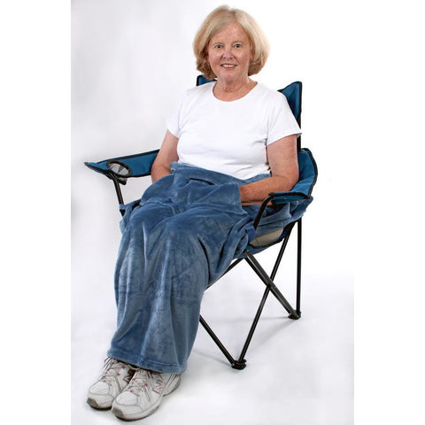 Granny Jo Products: Chair Blanket - Wedgewood Blue Color
