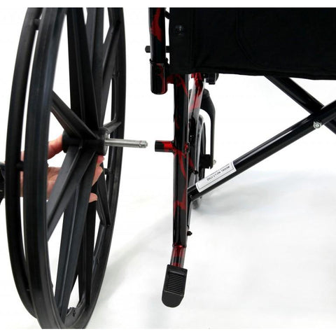 Karman Healthcare : Red Streak Lightweight Wheelchair  – LT-770Q quickrelease
