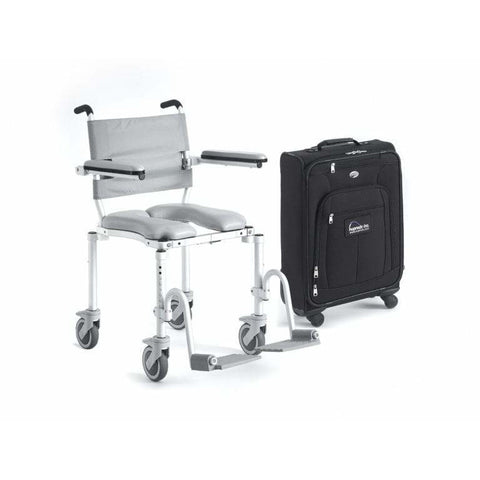 Nuprodx: Multichair Foldable Travel Shower/Commode Chair