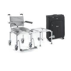 Nuprodx: All-in-one rolling mobility chair, commode chair, and tub transfer system that is designed for travel - MC6000TX
