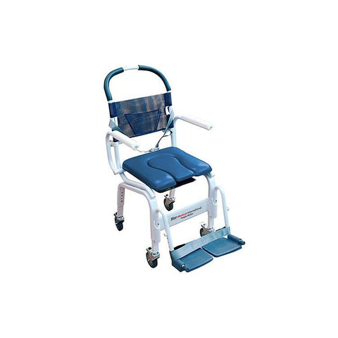 "Mor-Medical International: Deluxe New Era Euro Deluxe 18"" Shower Commode Chair - MD-118-4TL-BL"