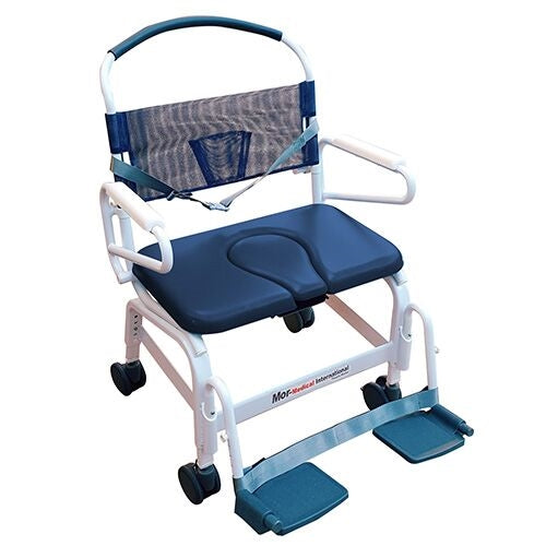 "Mor-Medical International: Euro Rehab Shower Commode Chair w/ 26"" Seat"
