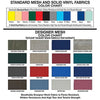 Image of MJM International: Universal Shower Chair - 118-3TL-VS-BB-18-SQ-PAIL-SF - Color Chart