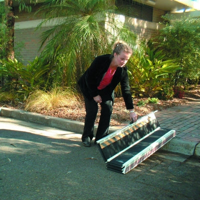 DecPac Ramps: Multipurpose Portable Wheelchair Ramp with Edge Barrier