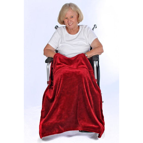 Granny Jo Products: Chair Blanket - Merlot Color