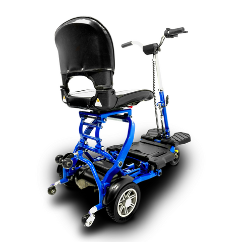 EV Rider: MiniRider Folding Transportable Mobility Scooter - T3T Blue Back