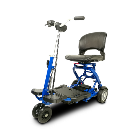 EV Rider: MiniRider Folding Transportable Mobility Scooter - T3T Blue Left Front
