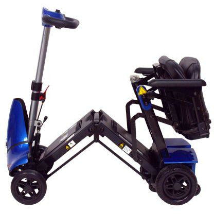 Enhance Mobility: Mobie Plus Scooter - S2043 - Blue Color - Folding View