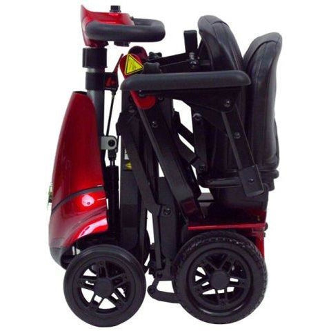 Enhance Mobility: Mobie Plus Scooter - S2043 - Red Color - Fold View