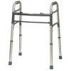Compass Health: ProBasics Junior Deluxe 2-Button Folding Walker, Gray - PB1050Y