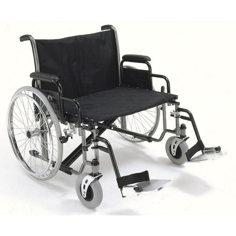 "Compass Health: ProBasics Extra Wide K0007 Wheelchair, 28"" x 20"" Seat - PB1328 Main View"