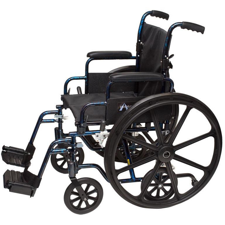"Compass Health: ProBasics Transformer K0004 Wheelchair, 20"" x 16"" Seat with Footrests - PB1920 Main View"