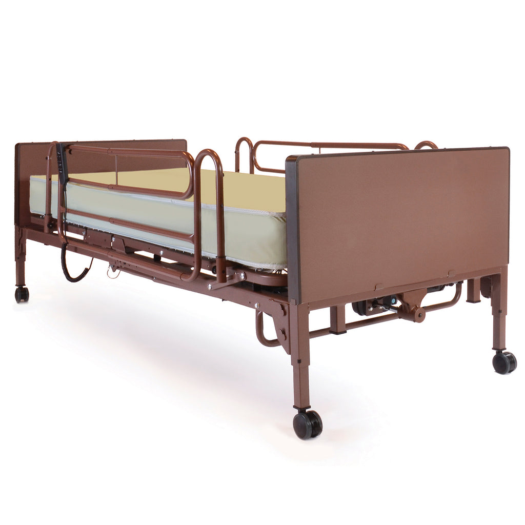 Compass Health: Probasics 3-Motor Full-Electric Bed w/ Probasics Bed Ends, Full Rails, and Innerspring Mattress - PBFE-FRISPKG