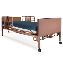 Compass Health: Probasics 3-Motor Full-Electric Bed Package w/ Probasics Low Bed Ends, Half Rails and ARUBA-200 Mattress - PBFE-HRARBPKG
