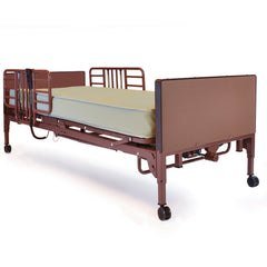 Compass Health: Probasics 3-Motor Full-Electric Bed w/ProBasics Low Bed Ends, Half Rails, and Innerspring Mattress - PBFE-HRISPKG