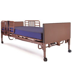 Compass Health: Probasics 3-Motor Full-Electric Bed Package w/ Probasics Low Bed Ends, Half Rails and Fibercore Mattress - PBFE-HRPKG
