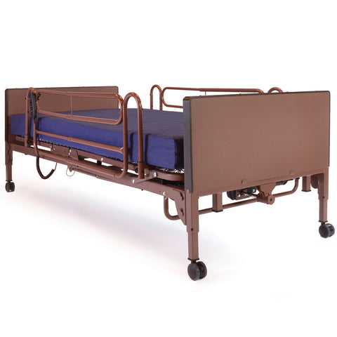Compass Health: Probasics 3-Motor Full-Electric Bed Package w/ Probasics Low Bed Ends, Full Rails and Fibercore Mattress - PBFE-PKG