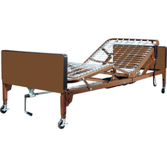 Compass Health: ProBasics Semi-Electric Bed Package with Half Rails & Group 1 Foam Mattress w/Nylon Cover) - PBSM-HRARBPKG