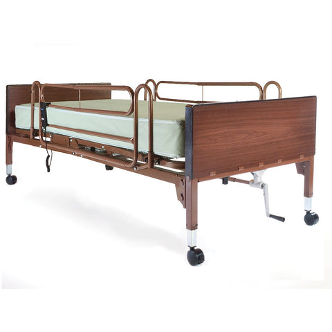 Compass Health: Probasics Single Motor Semi-Electric Lightweight Bed Package with Full Rails and Innerspring Mattress - PBSMB-FRISPKG