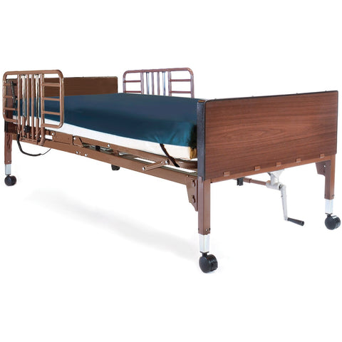Compass Health: Probasics Single Motor Semi-Electric Lightweight Bed Package with Half Rails and ARUBA-200 Cross-cut Mattress - PBSMB-HRARBPKG