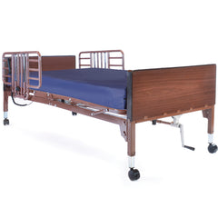 Compass Health: Probasics Single Motor Semi-Electric Lightweight Bed Package with Half Rails and Fibercore Mattress - PBSMB-HRFCPKG