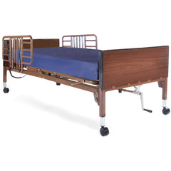 Compass Health: Probasics Single Motor Semi-Electric Lightweight Bed Package with Half Rails & Group 1 Boxed Compressed Mattress - PBSMB-HRGP1PKG