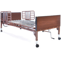 Compass Health: Probasics Single Motor Semi-Electric Lightweight Bed with Half Rails - PBSMB-HR