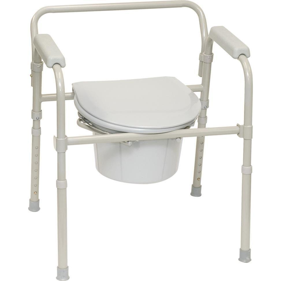 Compass Health: ProBasics Three-in-One Folding Commode with Full Seat - BSFC