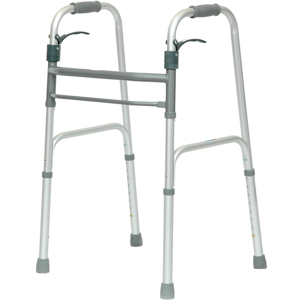 Compass Health: ProBasics Sure Lever Release Folding Walker, (Adult) - WKAANSL