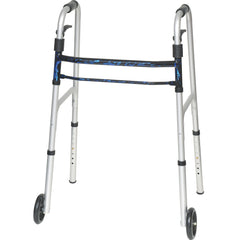 "Compass Health: ProBasics Sure Lever Release Folding Walker with 5"" Wheels and Blue Flame Finish, (Adult) - WKAAWSLB"