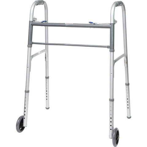 "Compass Health: ProBasics Bariatric 2-Button Walker with 5"" Wheels - WKABW2B"