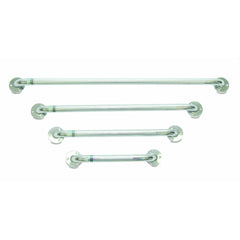 "Compass Health: ProBasics Chrome Knurled Grab Bar (24"") - PB8017 Front View"