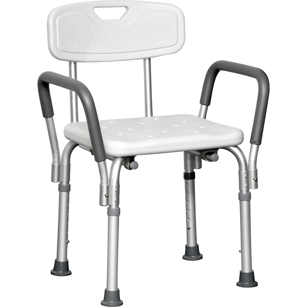 Compass Health: ProBasics Deluxe Shower Chair with Padded Arms 300 lb Weight Capacity, Sold 4/cs - BSCWBA