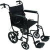 Compass Health: ProBasics Aluminum Transport Chair with 12-Inch Wheels, 300 lb Weight Capacity, 1/cs - TCA191612BK Main View