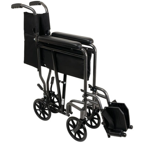 Compass Health: ProBasics Steel Transport Chair - TCS1916SV Folding View