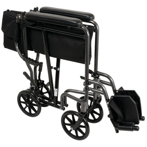 Compass Health: ProBasics Steel Transport Chair - TCS1916SV Move Push Handle