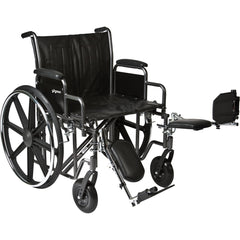"Compass Health: ProBasics Heavy Duty K0007 Wheelchair, 22"" x 18"" Seat with Legrests, 450 lb Weight Capacity - WC72218DE Main View"