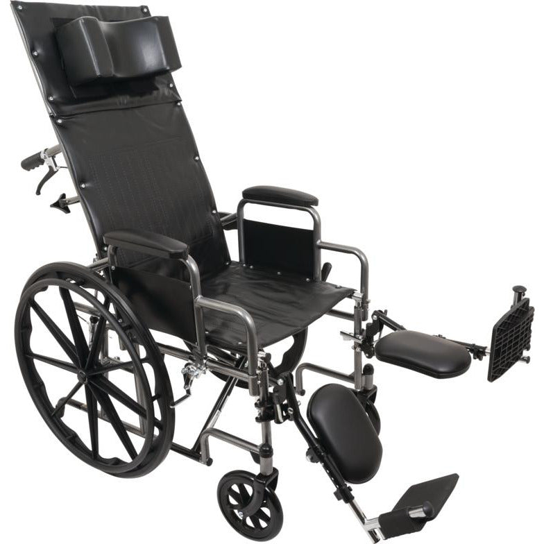 "Compass Health: ProBasics Reclining Wheelchair, 20"" x 17"", Removable Desk Arms & ELRs - WCR2018E Main View"
