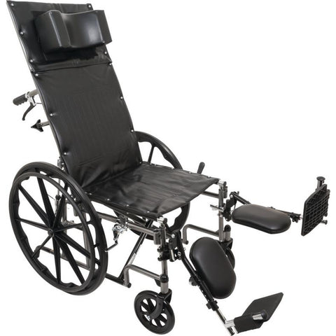 "Compass Health: ProBasics Reclining Wheelchair, 16"" x 17"", Removable Desk Arms & ELRs - WCR1616E With Out Arms rest"
