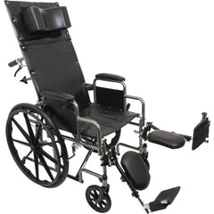 "Compass Health: ProBasics Reclining Wheelchair, 22"" x 17"", Removable Desk Arms & ELRs - WCR2218E  Main View"