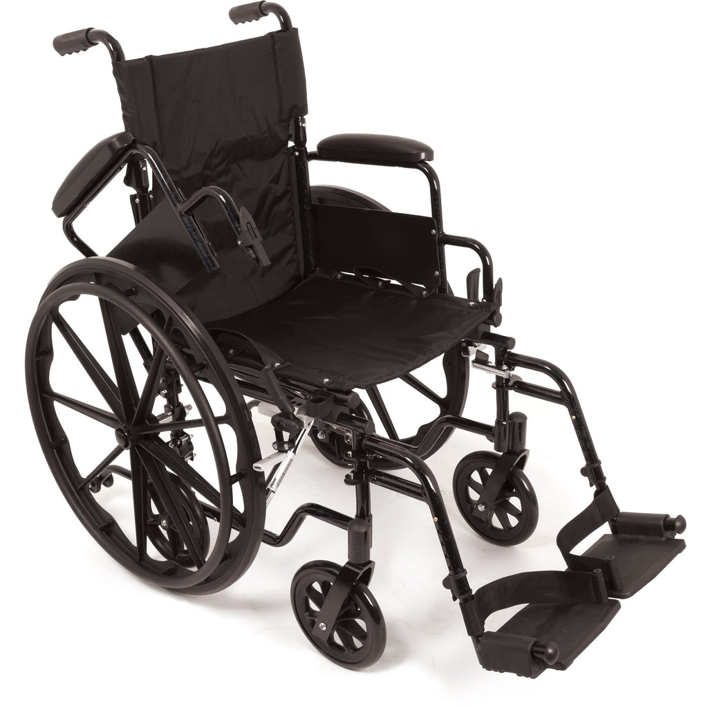 "Compass Health: ProBasics K4 Transformer Wheelchair with 16"" x 16"" Seat, Flip-Back Desk Arms and Swing-Away Footrests - WCT41616DS Removable Arms rest"