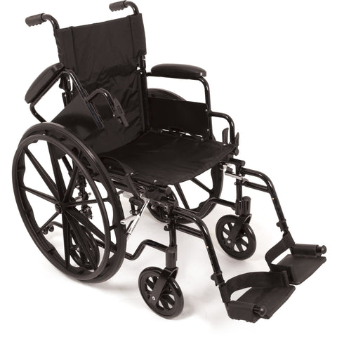 "Compass Health: ProBasics K4 Transformer Wheelchair with 18"" x 16"" Seat, Flip-Back Desk Arms and Swing-Away Footrests - WCT41816DS Removable Arms rest"