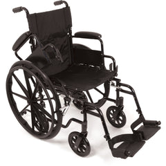 "Compass Health: ProBasics K4 Transformer Wheelchair with 20"" x 16"" Seat, Flip-Back Desk Arms and Swing-Away Footrests - WCT42016DS Removable Arms rest"
